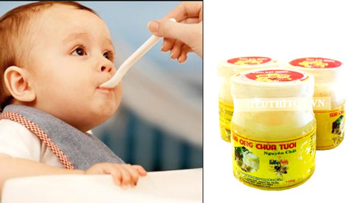 trẻ em có uống được sữa ong chúa