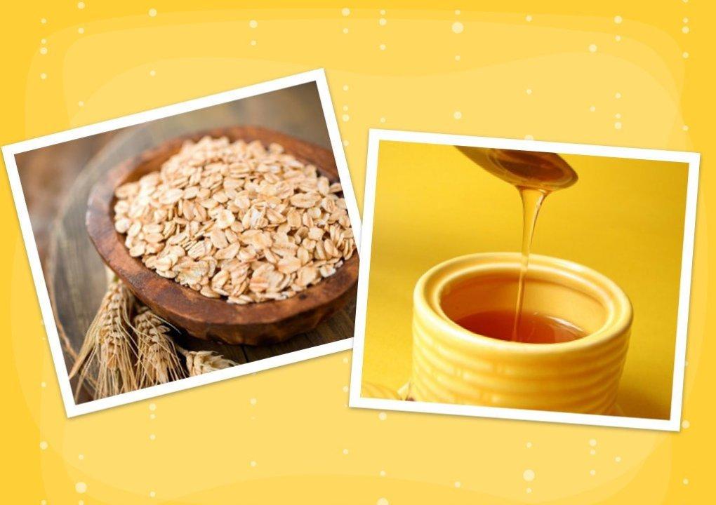 mặt nạ yến mạch và mật ong