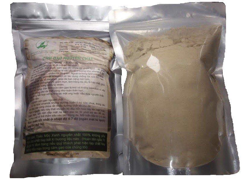cám gạo nguyên chất thảo mộc xanh